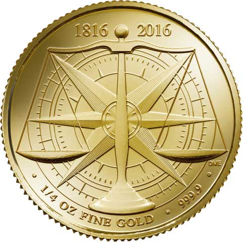 2016 1/4-oz British £25 Gold Standard