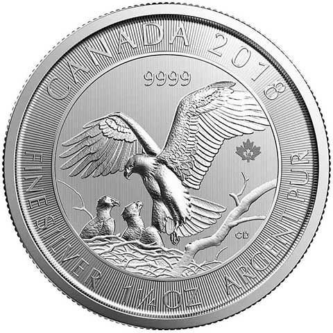 2018 Royal Canadian Mint 1.25oz Silver Eagle with Nest
