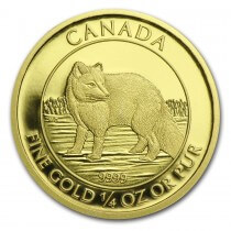 2014 Canadian 1/4 oz Gold $10 Arctic Fox