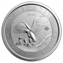2018 Royal Canadian Mint .5oz Silver Eagle with Nest