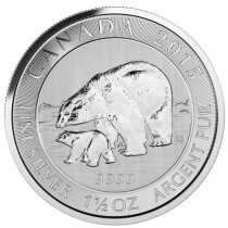 2015 Canada 1.5oz Silver $8 Polar Bear and Cub