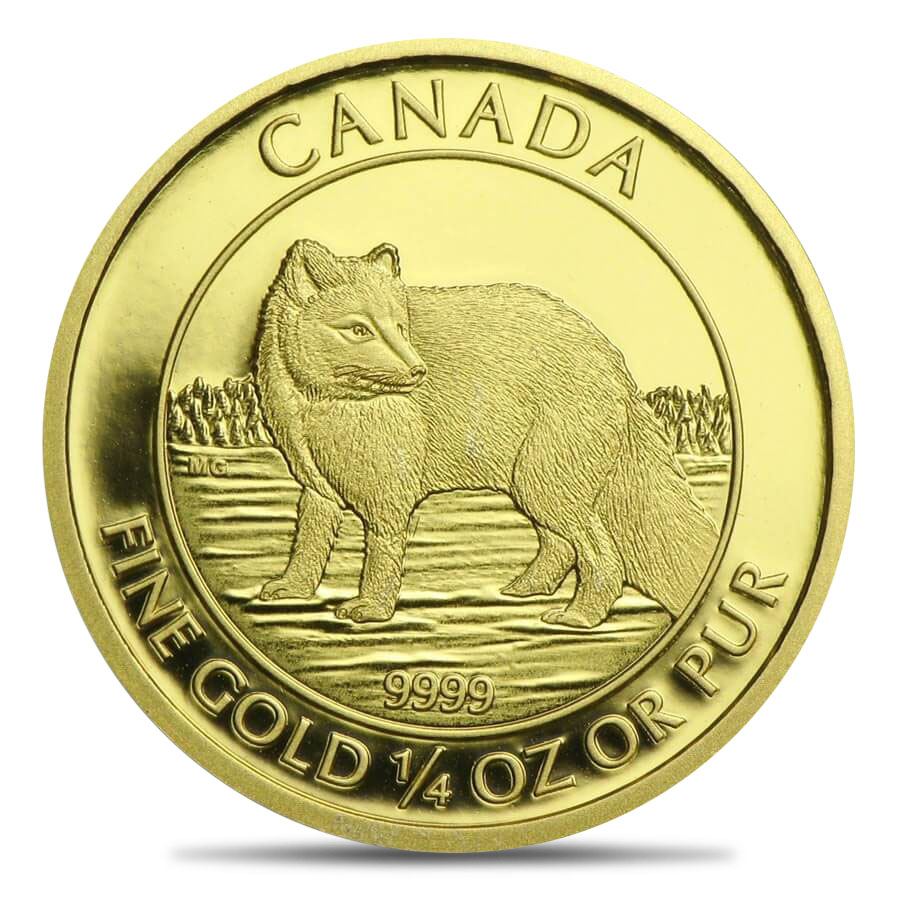 2014 Canadian .25oz Gold $10 Arctic Fox