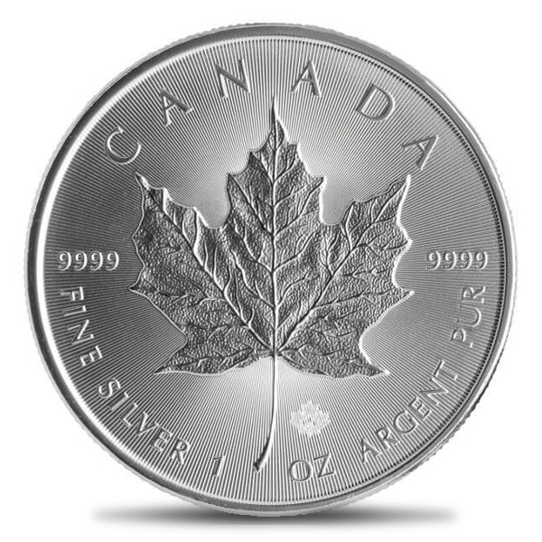 Canadian Silver Maple Leaf 1oz BU (Random Year)