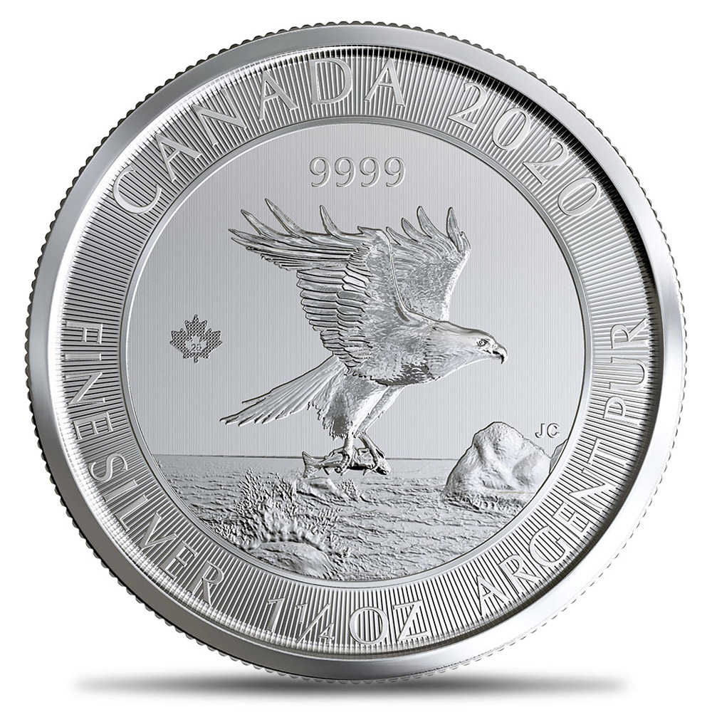 2020 Royal Canadian Mint $8 1.25oz 99.99% Silver Soaring Eagle