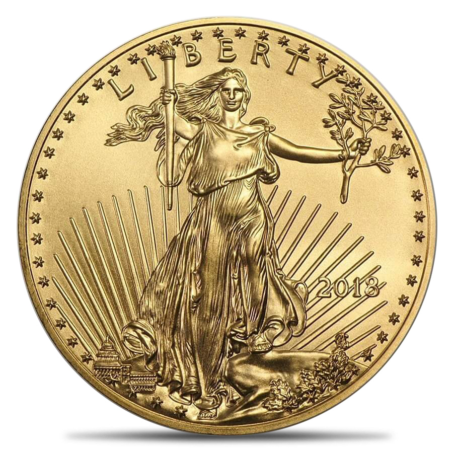 Gold American Eagle .5oz BU (Random Year)
